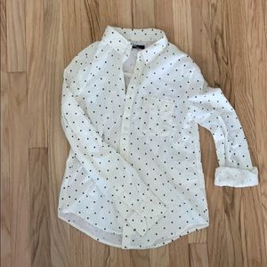 Flannel polka dot button down urban outfitters